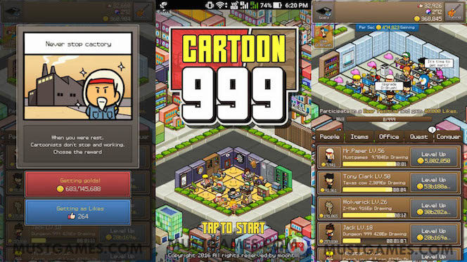 ApkMod1.Com Cartoon999 v2.03 + МOD (Many likes/Crystals/Gold) download free Android Game Simulation